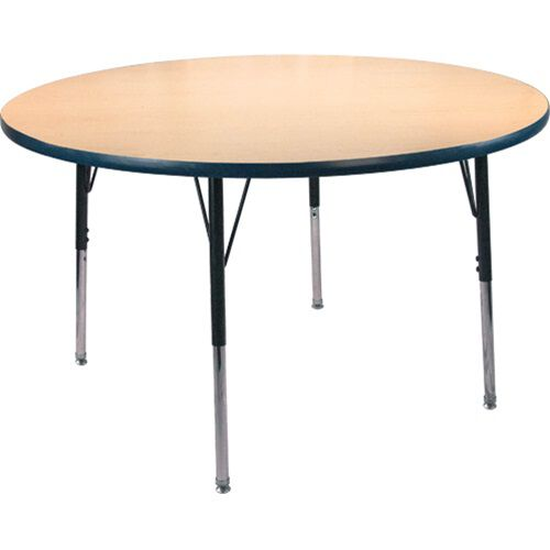 Advantage 48 in. Round Adjustable Activity Table - Maple/Navy