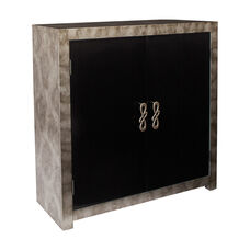 Inspired By Bassett Selene Storage Console in Grey Combo Finish
