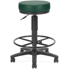 Anti-Microbial and Anti-Bacterial Vinyl UtiliStool with Drafting Kit - Teal