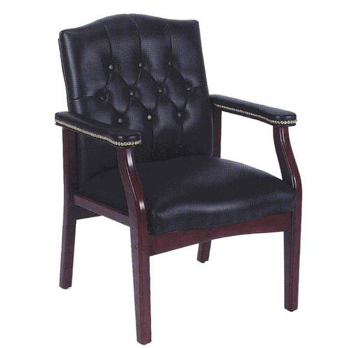 Our Traditional Button Tufted Caressoft™ Guest Chair - Black is on sale now.