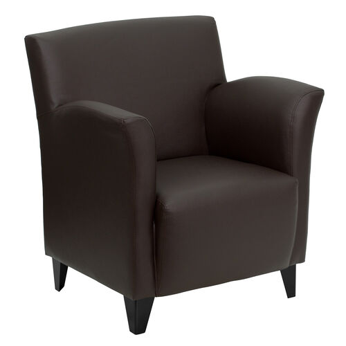 HERCULES Roman Series Brown LeatherSoft Lounge Chair