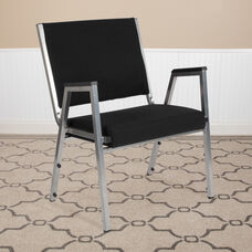 HERCULES Series 1500 lb. Rated Black Antimicrobial Fabric Bariatric Antimicrobial Medical Reception Arm Chair
