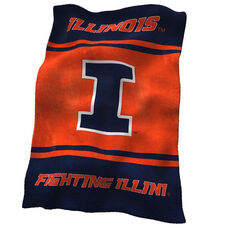 University of Illinois Team Logo Ultra Soft Blanket