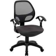 Techni Mobili Mid-Back Mesh Task Chair - Black