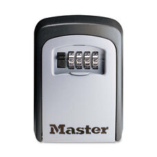 Master Lock® Locking Combination 5 Key Steel Box - 3 7/8w x 1 1/2d x 4 5/8h - Black/Silver