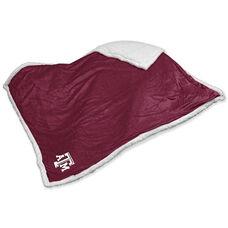 Texas A&M University Team Logo Sherpa Throw