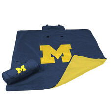 University of Michigan Team Logo All Weather Blanket