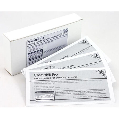 Our CleanBill Pro Cleaning Card, with Ridges for Deeper Cleaning for Currency Counters - Box of 10 is on sale now.