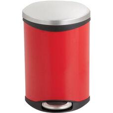 Ellipse 3 Gallon Step on Medical Trash Receptacle - Red