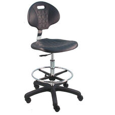 Deluxe Cleanroom Polyurethane Laboratory Chair - Nylon Base