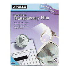 Apollo Laser Printer Transparency Film - Pack Of 50