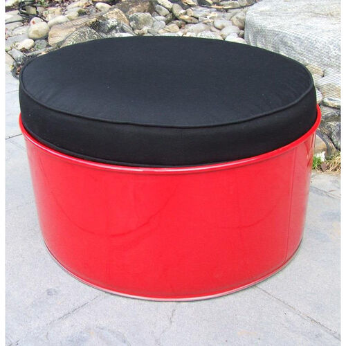 Our Red Loft Steel Drum Ottoman with Black Accents is on sale now.