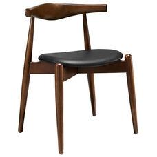 Stalwart Dining Side Chair in Dark Walnut/Black