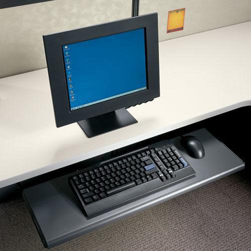 Our HON® Slide-Away Laminate Keyboard Platform - 21-1/2w x 10d x 1-1/8h - Black is on sale now.