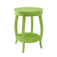 Rainbow Round Table with Shelf - Lime Green