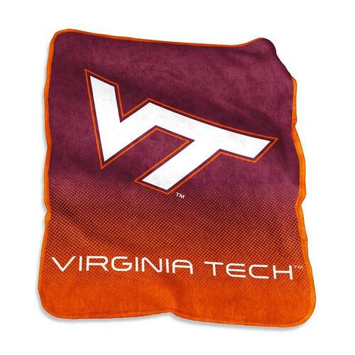 Virginia Tech Team Logo Raschel Throw