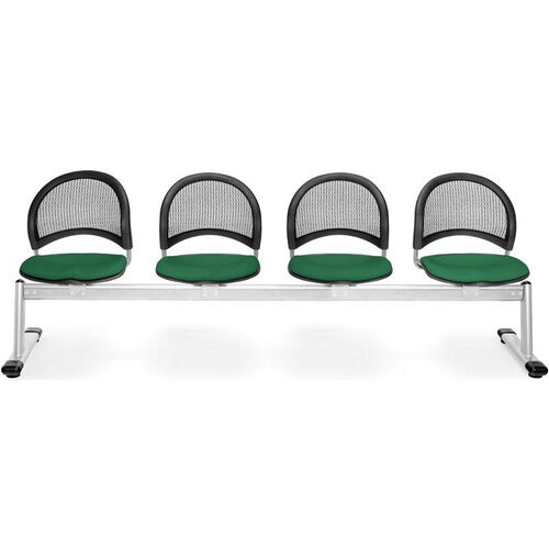 Our Moon 4-Beam Seating with 4 Fabric Seats - Forest Green is on sale now.