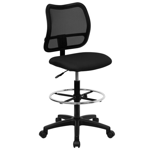 Our Mid-Back Black Mesh Drafting Chair is on sale now.