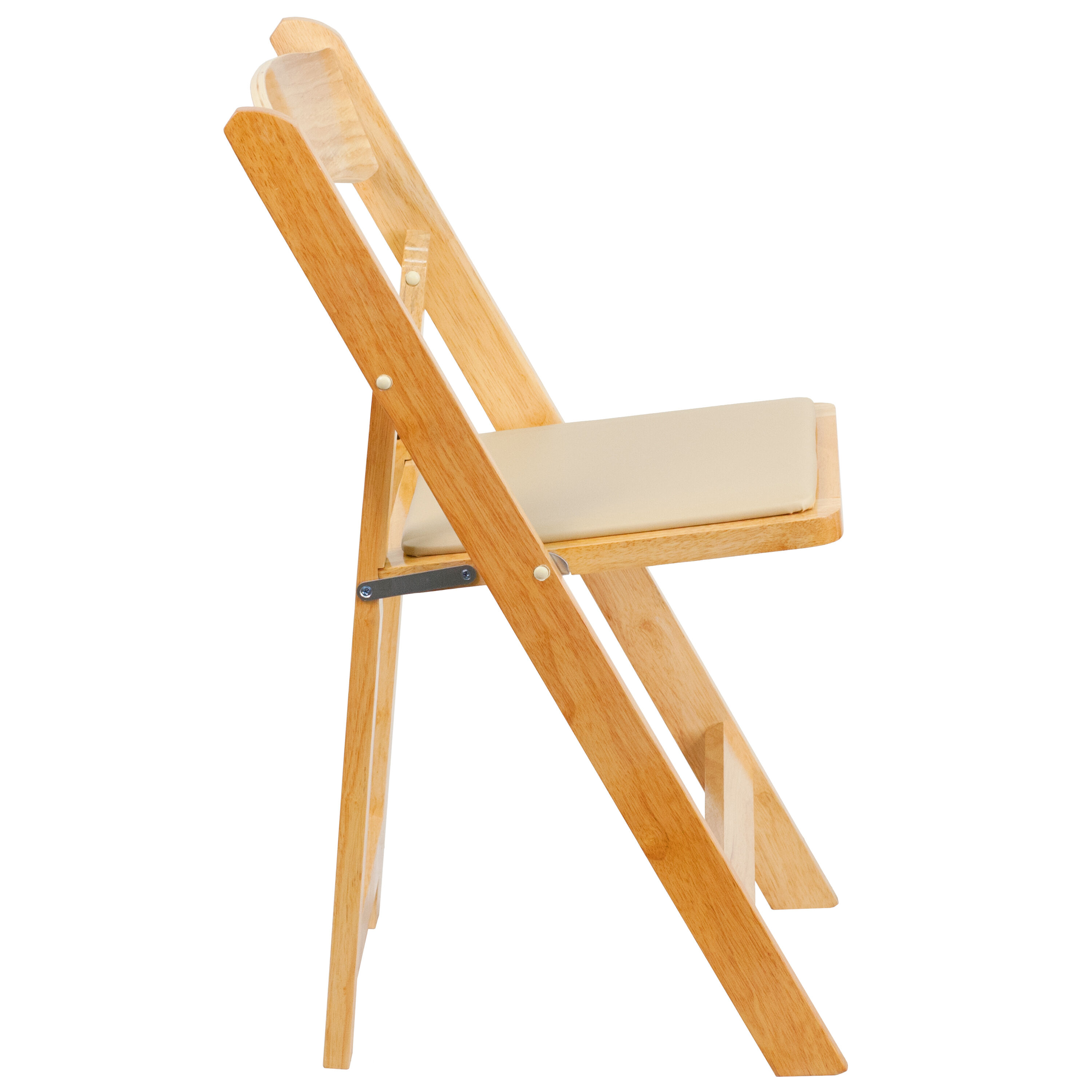 Ordinaire Our HERCULES Series Natural Wood Folding Chair With Vinyl Padded Seat Is On  Sale Now.