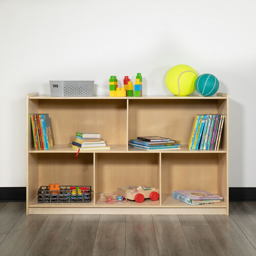 Wooden School Classroom Storage Cabinet/Cubby for Commercial or Home Use - Safe, Kid Friendly Design (Natural)