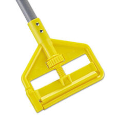 Rubbermaid® Commercial Invader Aluminum Side-Gate Wet-Mop Handle - 1 dia x 54 - Gray/Yellow