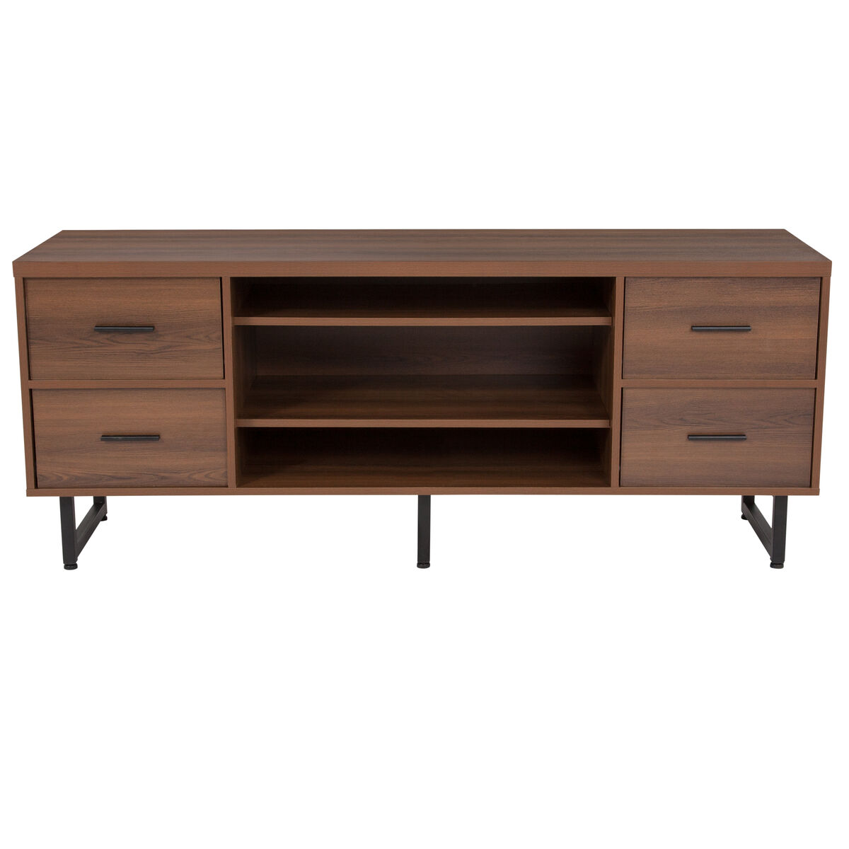 Rustic Tv Stand With Drawers Nan Jn 21743tr Gg Bizchair Com