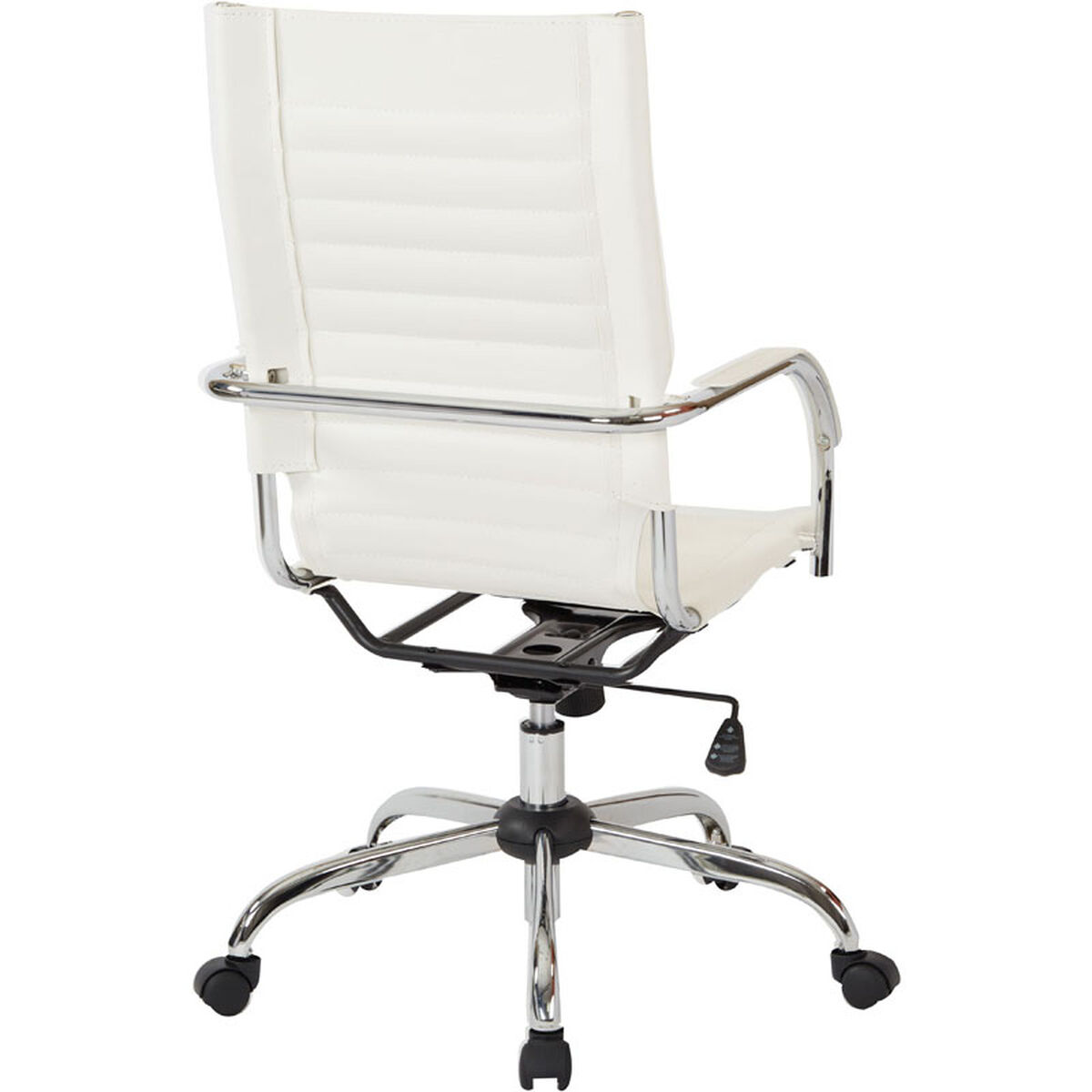Our Ave Six Trinidad High Back Vinyl Office Chair With Chrome Base And Casters White