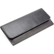 RFID Blocking Clutch - Saffiano Genuine Leather - Black