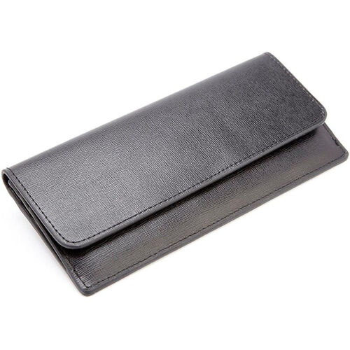 Our RFID Blocking Clutch - Saffiano Genuine Leather - Black is on sale now.