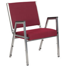 HERCULES Series 1500 lb. Rated Burgundy Antimicrobial Fabric Bariatric Antimicrobial Medical Reception Arm Chair