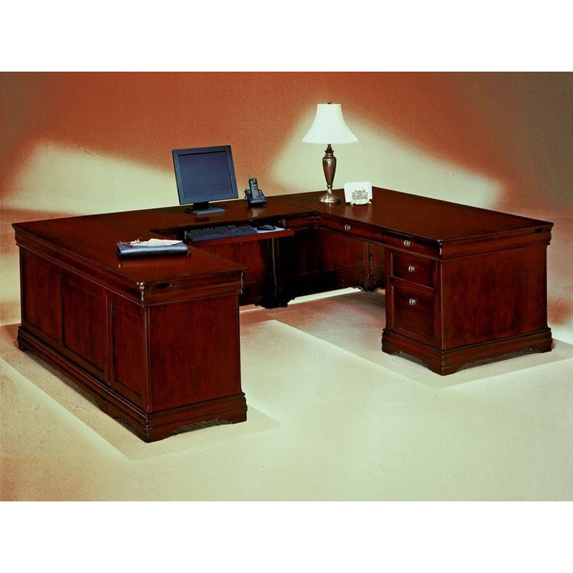 luxedecor desk office desks modern for shaped dmi regarding attractive furniture intended l sale grey amazing