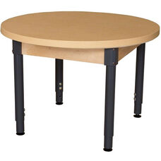 Round High Pressure Laminate Table with Adjustable Steel Legs - 36