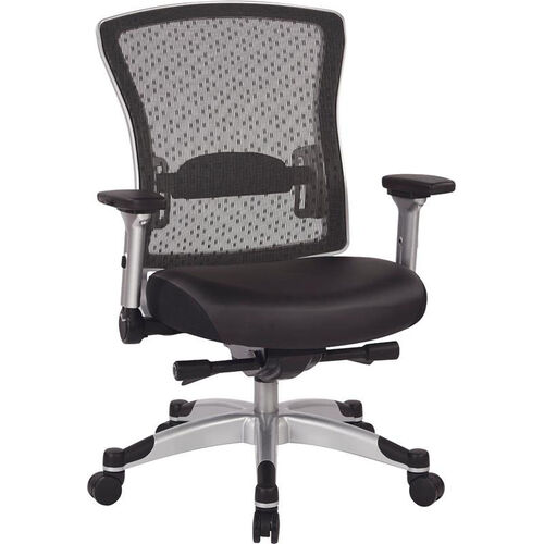 Our Space R2 SpaceGrid Back Office Chair with Memory Foam Bonded Leather Seat and Flip Arms is on sale now.