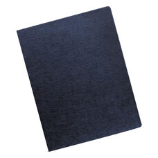 Fellowes® Linen Texture Binding System Covers - 11-1/4 x 8-3/4 - Navy - 200/Pack