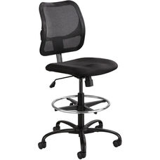 Vue™ Ergonomic Mesh Extended Height Drafting Chair - Black