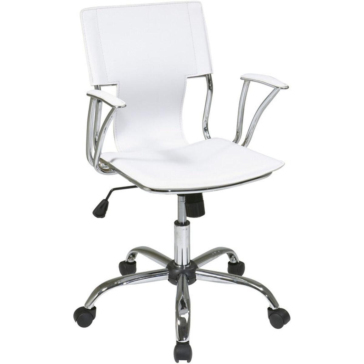 Ave Six Dorado White Office Chair Dor26 Wh Bizchair Com