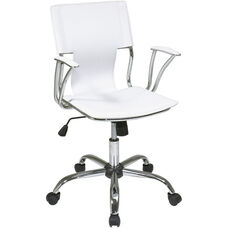 Ave Six Dorado Vinyl Office Chair - White