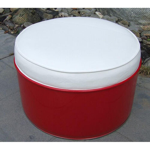 Our SS 396 Steel Drum Ottoman with White Accents is on sale now.