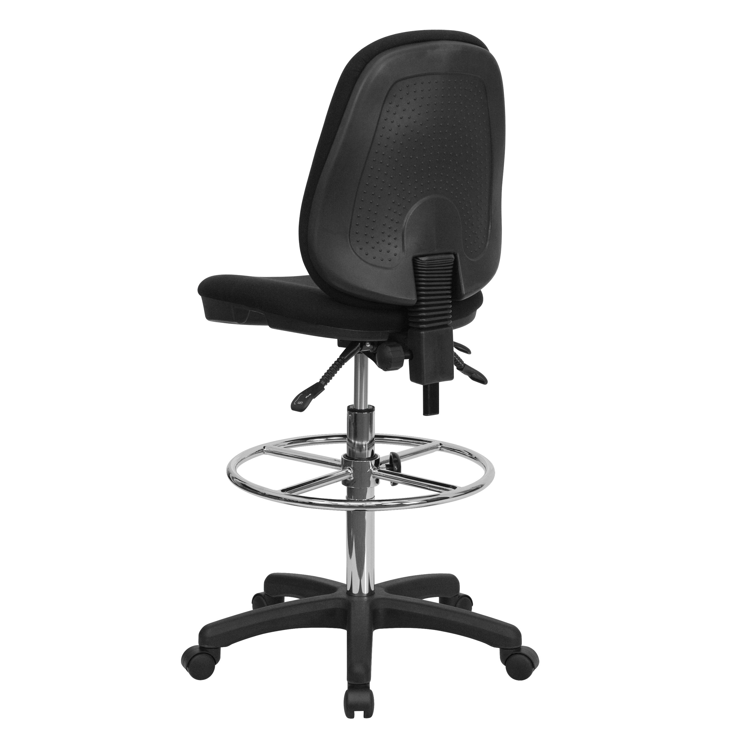 Our Black Multifunction Ergonomic Drafting Chair With Adjustable Foot Ring  Is On Sale Now.