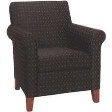 2475 Upholstered Lounge Chair w/ Tapered Wood Feet - Grade 1