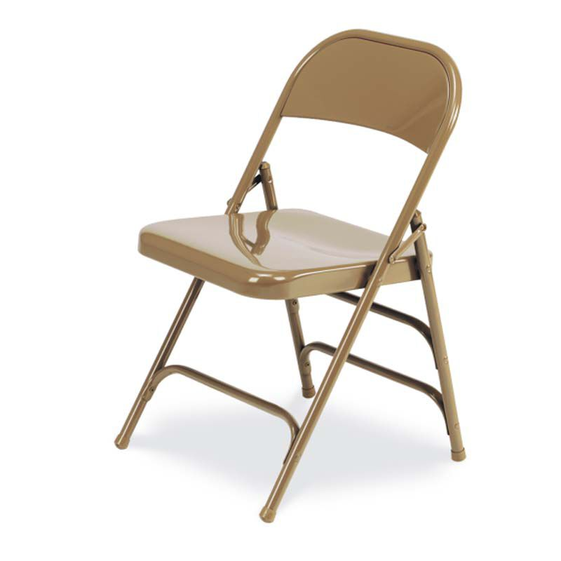 Exceptionnel ... Our Quick Ship Multi Purpose Steel Folding Chair With 2 Rear Leg Braces    Golden