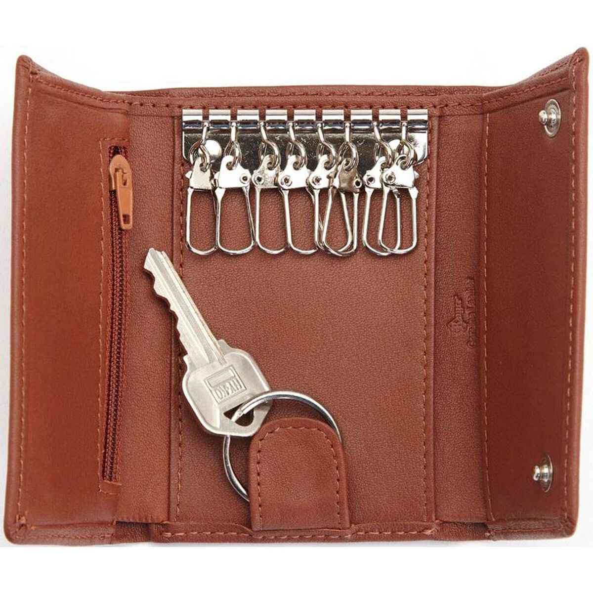 4677a66744 Our Key Chain Wallet- Top Grain Nappa Leather - Tan is on sale now.