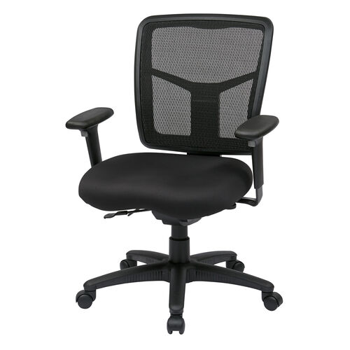 Pro-Line II ProGrid® Back Managers Chair with Adjustable Seat and Arms - Black