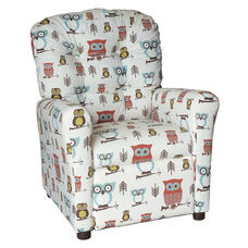 Kids Recliner with Button Tufted Back - Hooty Village