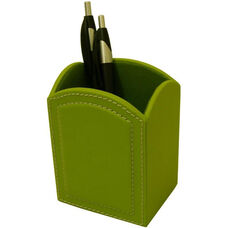 Colors Faux Leather Pencil Cup - Lime Green