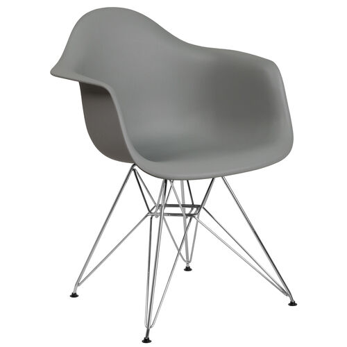 Our Alonza Series Moss Gray Plastic Chair with Chrome Base is on sale now.