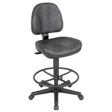 Premo Height Adjustable Black Leather Ergonomic Chair