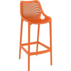 Air Modern Resin Outdoor Bar Stool - Orange