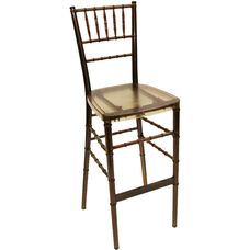 1000 lb. Max Resin Steel Core Chiavari Barstool - Set of 2 - Amber Crystal