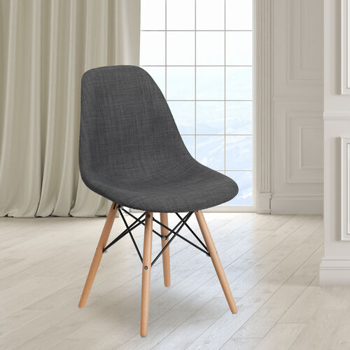 Our Elon Series Siena Gray Fabric Chair with Wooden Legs is on sale now.